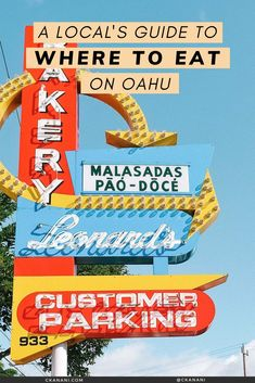 A local's guide to the best places to eat on Oahu, Hawaii. The best malasadas, shave ice, views, and more. Oahu Hawaii / Oahu Hawaii things to do in / Oahu Hawaii secrets / Oahu food guide / Oahu food restaurants / Honolulu Hawaii / Honolulu Hawaii things to do in / North Shore Oahu / Hawaii food guide / Oahu eats / best places to eat in Oahu / where to eat in Oahu / Waikiki Hawaii / #oahu #hawaii #foodguide #honolulu #waikiki Waikiki Beach, Honolulu Hawaii, Honolulu Restaurants, Hawaii Things To Do, North Shore Oahu, Best Places To Eat, Hawaii Travel, The Good Place