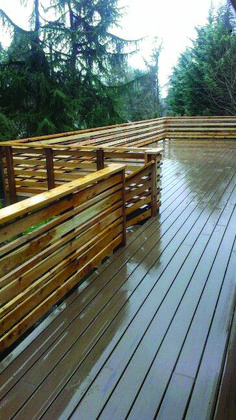 Finest wood deck without railing made easy