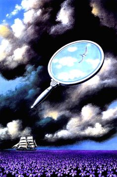 It takes a sharp and focused eye to capture the light in the darkness. Rafal Olbinski