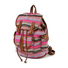 Textured Stripe Backpack