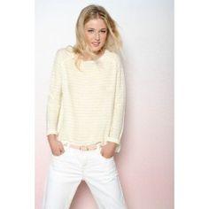 Citron white Daudet sweater @ DES PETITS HAUTS