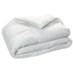 350 Thread Count Damask Stripe White Down Comforter 411404 King by BR Home. $169.95. Country of Origin: Made in USA of imported materials. Size: King 104x88 Inch. Color: White. Cleaning Instruction: Dry Clean. A good quality down comforter will provide warmth, serve as a natural insulator keeping in your body heat, be allergy free, and last but not least, make for a cozy, inviting bed. To ensure its long life, a down comforter should be used with a duvet cover. Constru...