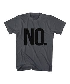Look what I found on #zulily! Charcoal 'No.' Tee - Toddler & Kids by  #zulilyfinds