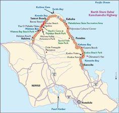 Kamehameha Highway Oahu | ... Image This map will help guide you along the Kamehameha Highway