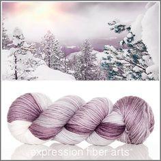 Peace superwash dewy dk yarn by expression fiber arts - oh la la !