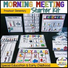 Special Education Morning Meeting Kit for. by Autism Classroom Resources-Christine Reeve Special Education Activities, Special Education Classroom, Educational Activities, Group Activities, Classroom Resources, Teacher Resources, Classroom Ideas, Calendar Skills, Calendar Time