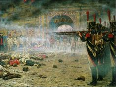 In Defeated Moscow ( Arsonists or Shooting in the Kremlin) - Vasily Vereshchagin, 1897-1898