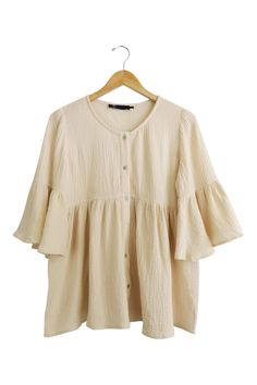 Because of You Babydoll in Cream   ROOLEE