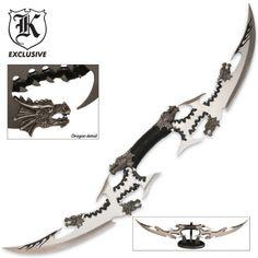 Six Dragon Head Double Blade Sword