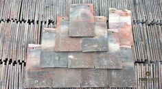 Reclaimed Red Handmade Roof Tile | Rustic | Old | Per 10 | Clay 10.5  x 6.5
