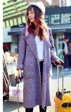 m52 2014 herfst sjaal gebreid vest jas lange sectie van groot formaat vrouwen lente en de herfst g sction van losse trui coaet in             van wol en mengsels op AliExpress.com | Alibaba Groep