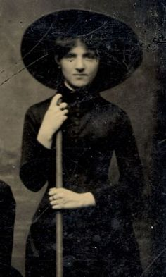 old timey witch. [fashion through history]