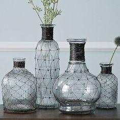 Wire Bottle Bud Vases