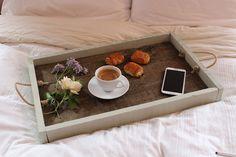 DIY Rustic Wooden Tray | www.kezzabeth.co.uk