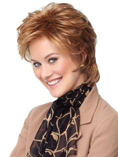 Layered Short Hairstyles for Long Faces-2