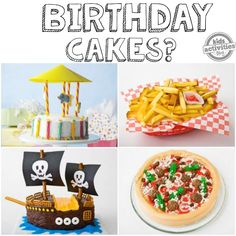 Every birthday we want to outdo the last by creating the coolest birthday cake ever! If you are planning a birthday party, you might want to check out Scary Cakes, Piggy Cake, Today Is Your Birthday, Sweet Pizza, Lion Cakes, Snowman Cake, First Birthday Cakes, Birthday Ideas, Happy Birthday