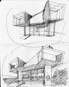 Discover recipes, home ideas, style inspiration and other ideas to try. Architecture Concept Drawings, Paper Architecture, School Architecture, Sustainable Architecture, Architecture Design, Prix Pritzker, Conceptual Sketches, Building Drawing, Pop Design