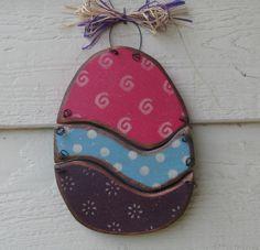 Spring Decor-Small Hanging Easter Egg. $11.95, via Etsy.