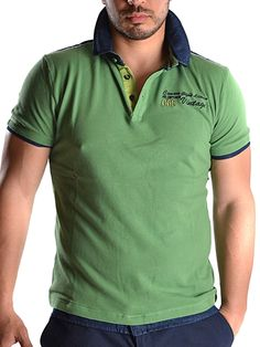 Green Cotton Polo T-Shirt for Men! Buy online!