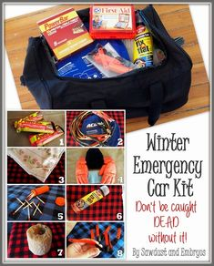 Winter Emergency Survival Kit... DON'T LEAVE HOME WITHOUT THESE ITEMS!
