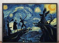 Harry Potter Pc, Harry Potter Artwork, Harry Potter Drawings, Harry Potter Wallpaper, Arte Van Gogh, Van Gogh Art, Van Gogh Wallpaper, Tree Wallpaper, Imprimibles Harry Potter Gratis