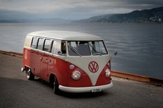 VW bus. The 70's are calling. Would love to have one just for fun. Man, I was born in the wrong era.