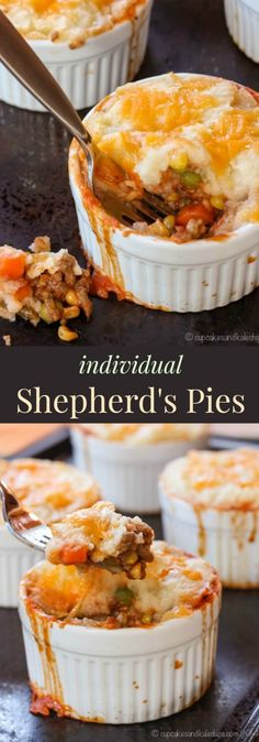 Individual Shepherd's Pies are an easy, tasty, and fun way to get kids to eat veggies! | cupcakesandkalechips.com | gluten free #ad