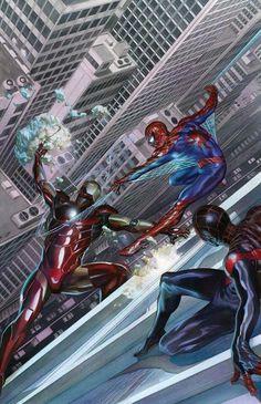 Spider-Men vs. Iron Man by Alex Ross