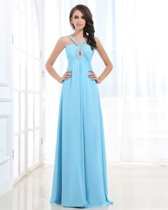osell wholesale dropship Chiffon Beading Backless Sweetheart Floor Length Prom Dresses $81.17