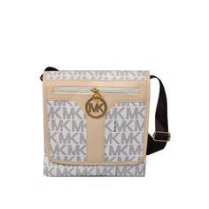 bd3bfe60a4e5 Michael Kors Jet Set Logo Large Vanilla Crossbody Bags Outlet Michael Kors Crossbody  Bag