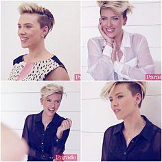Scarlett Johansson for Parade magazine (stills from this video).