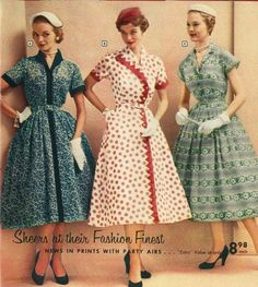 Vintage Outfits, Vintage 1950s Dresses, Retro Outfits, Vintage Skirt, Vintage Clothing, Fifties Fashion, Retro Fashion, Vintage Fashion, Style Fashion
