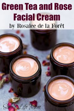 Anti-Aging Remedies This green tea and rose facial cream is full of amazing ingredients like rose hydrosol, essential oils. Great night cream and anti aging eye cream. - A silky smooth facial cream with all natural ingredients Anti Aging Eye Cream, Anti Aging Tips, Anti Aging Skin Care, Homemade Skin Care, Homemade Beauty Products, Diy Skin Care, Homemade Face Moisturizer, Homemade Facials, Homemade Face Lotion