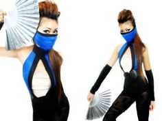 Halloween 2010: Mortal Kombat Kitana Costume : Secretlifeofabionerd - YouTube
