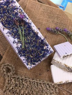 Lavender Goat Milk Soap and a homemade Hemp Loofah! DIYs by @kennethwingard & @sophieuliano!