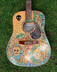 boho guitar... violão boho... <3