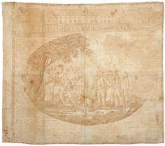 1824 Quaker Textile Kerchief - Threads of History - Dec 2013 Vintage Bandana, Kerchief, Early American, Bandanas, American History, Vintage World Maps, Auction, Textiles, Tapestry