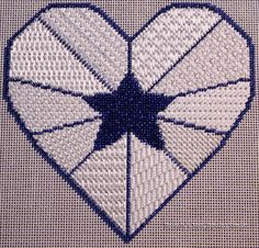 Lone Star Heart   Brenda's Needlepoint Studio