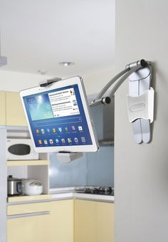 Wall Mount for Tablet. Would you like to watch the news as you're chopping vegetables. Or, how about watching a YouTube vid...