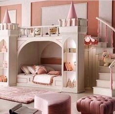 Quarto para meninas! A cama vira um castelo para verdadeiras princesas!