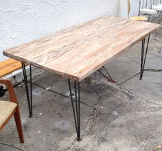 Mid Century Style Dining Table Hairpin Legs by TIMBODECOR on Etsy, $550.00