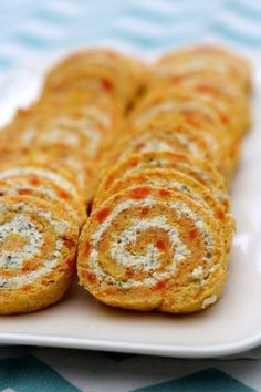 Salted carrot and cream cheese roll - Amandine Cooking - Salted carrot and cream cheese roll - Veggie Soup Recipes, Vegan Recipes, Snack Recipes, Quiches, Cream Cheese Rolls, Healthy Food Alternatives, Tumblr Food, Party Food And Drinks, English Food