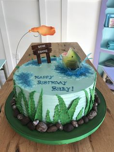 23+ Beautiful Picture of Fish Birthday Cake . Fish Birthday Cake Gone Fishing Birthday Cake Baking