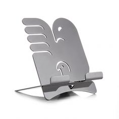 "Tablet stand ""Alicanto"" by Holly Birkby for Carrol Boyes. Polished stainless steel. Made in South Africa."