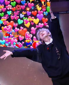 Hyungwon, Minhyuk, Jooheon, K Pop, Funny Kpop Memes, Exo Memes, Bts Meme Faces, Funny Faces, Bts Emoji
