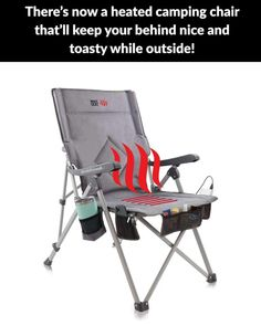 Heated Portable Chair, Perfect for Camping, Sports, Beach, and Picnics. Camping Chair, Go Camping, Outdoor Camping, Outdoor Gear, Outdoor Chairs, Camping Ideas, Bleacher Chairs, Bleacher Seating, Online Home Design