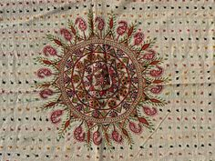 Banjara Textiles :: Large Kantha Quilt from West Bengal region of India. 68  x 42 inches. I love the grid background!