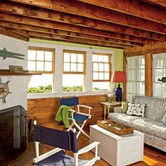 10 Beautiful Beach Cottages | Traditional Beach Room | CoastalLiving.com