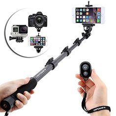 Product FeaturesMonopod with GoPro style Screw for Gopro Hero 4 3+ 3 2 1 Camera ★★★The Bluetooth Remote is for smartphone only, NOT