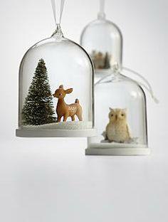 Christmas Snow Globe Tree Ornaments